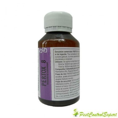 Solutie concentrata emulsionabila de culoare galbuie, impotriva gandacilor ce acopera ~ 140 mp - Pertox 8 100 ml