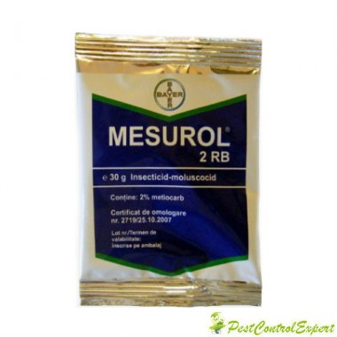 Moluscocid insecticid pentru combaterea limacsilor si coropisnitelor Mesurol 2 rb 30 gr.