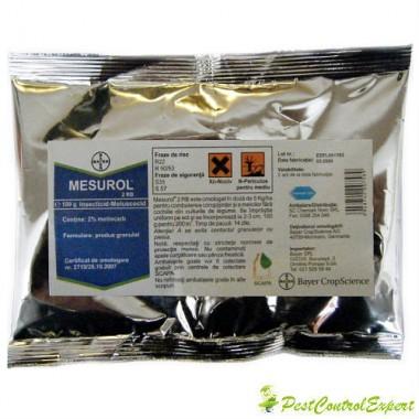 Moluscocid insecticid pentru combaterea limacsilor si coropisnitelor Mesurol 2 rb 150 gr.