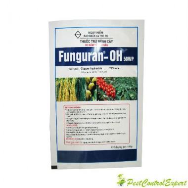 Fungicid de contact pentru combaterea focului bacterian, manei Funguran oh 50 wp 300 gr.