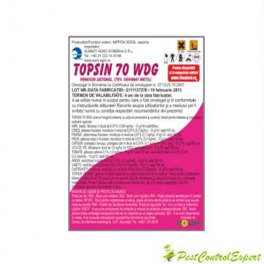 Fungicid cu actiune preventiva si curativa impotriva bolilor Topsin 70 wdg 1kg