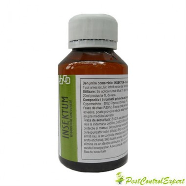 Solutie universala anti tantari destinata profilaxiei sanitare umane 100 mp - Insektum 100 ml