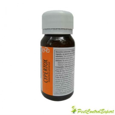 Substanta profesionala de contact si de ingestie anti muste 70 mp - Cypertox 50 ml