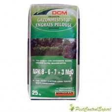 Fertilizant organic pentru gazon NPK 8-6-7+3 MgO DCM 25kg
