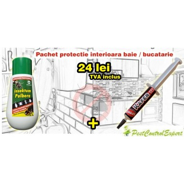 Noul Kafer Gel gel impotriva gandacilor 5g + Insektum Pulbere impotriva insectelor de casa 150g