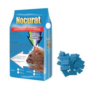 Raticid baton cerat Nocurat, ideal pentru spatii umede 100gr.