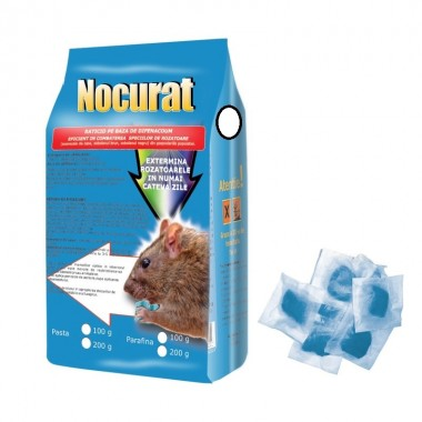 Raticid Nocurat sub forma de pasta anti soareci, sobolani 200gr.