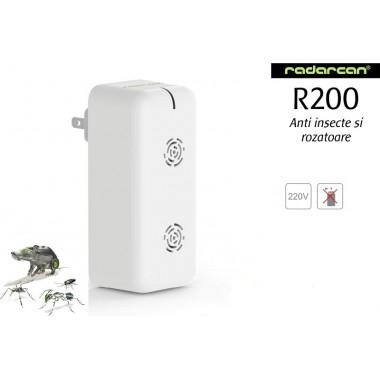 Radarcan R200 Dispozitiv cu ultrasunete ce combate insectele taratoare/zburatoare si rozatoarele 500mp
