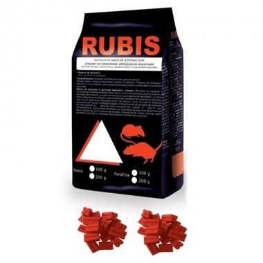 Raticid baton cerat Rubis, ideal pentru spatii umede 200gr.