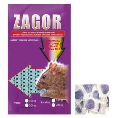 Raticid Zagor sub forma de pasta anti soareci, sobolani 200gr.
