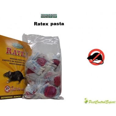 Momeala raticida pentru combaterea rozatoarelor (200gr) RATEX