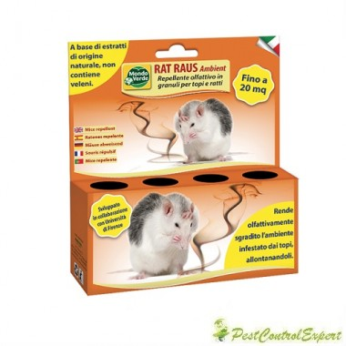 Repelent olfactiv granule impotriva soarecilor si a sobolanilor RAT RAUS Ambient 50 gr.